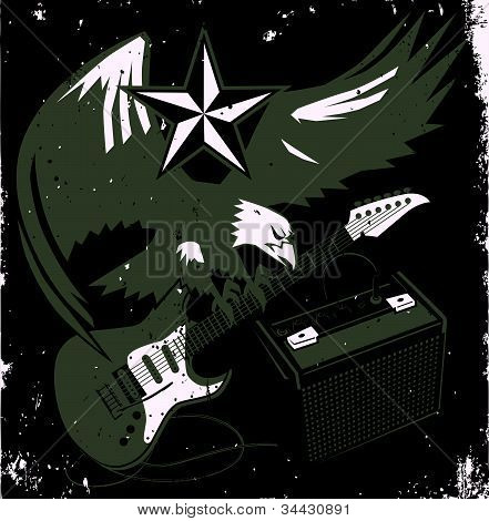 Grungy Guitar Eagle.eps