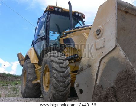 Big Yellow Front End Loader