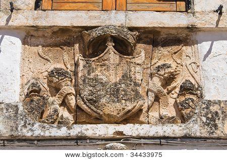 Bishop's palace. Ostuni. Puglia. Italy.