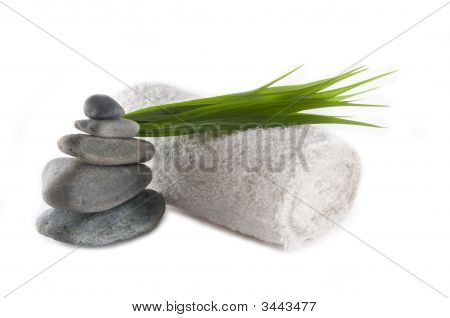 Towel And Rocks