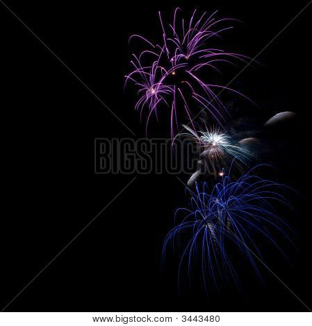 Fireworks On Dark