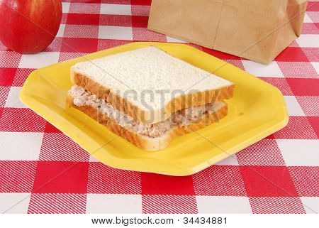 Tuna Sandwich Sack Lunch