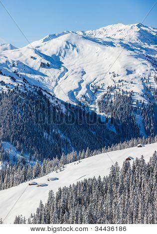 Skigebiet in Österreich