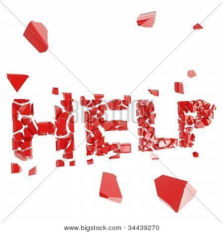 Broken help metaphor, smashed word explosion