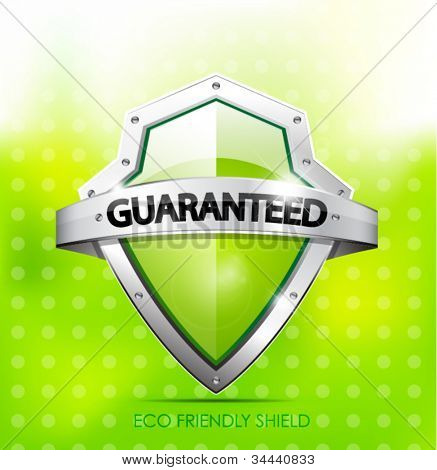 Eco friendly guarantee shield