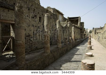 Ancient Street In Herculaneum