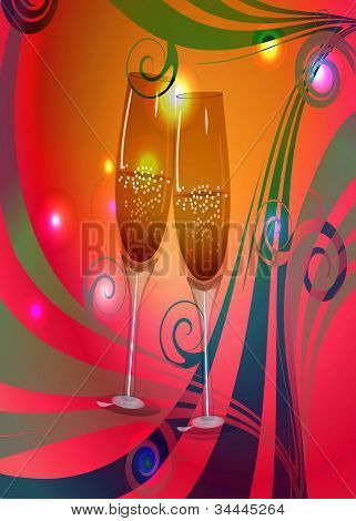 Toast Champagne Wine
