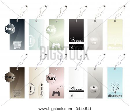 Collection Of Shopping Tags