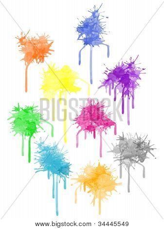 Vector Color Paint Splat