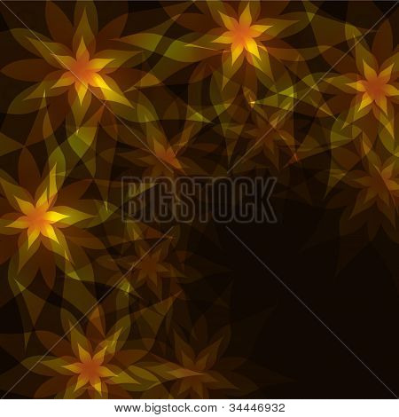 Floral Background With Decorative Pattern