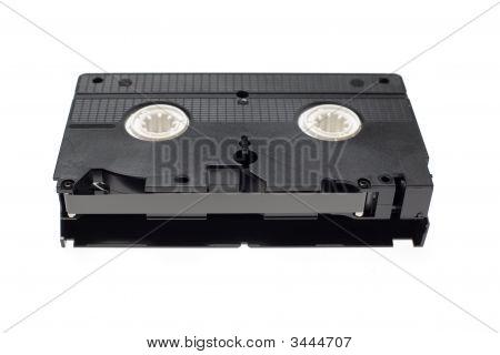 Vintage Retro Film Videotape Over White Background