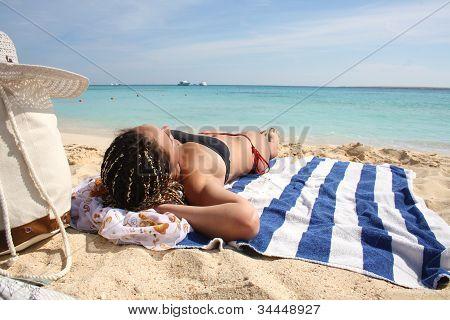White Beach And Blue Sea