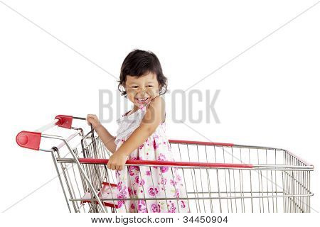 Cute Asian Girl Shopping