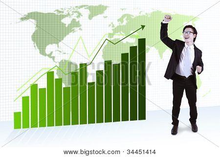 Exitoso empresario asiático