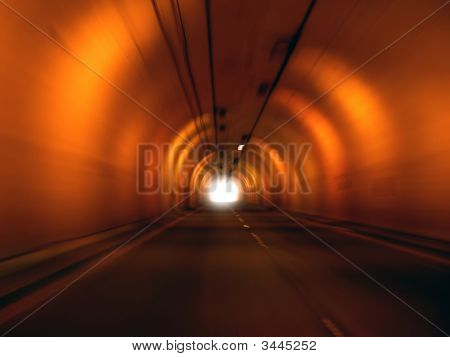 Approaching The End Of A Tunnel