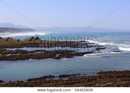 Panoramic View Of A Wild Coast