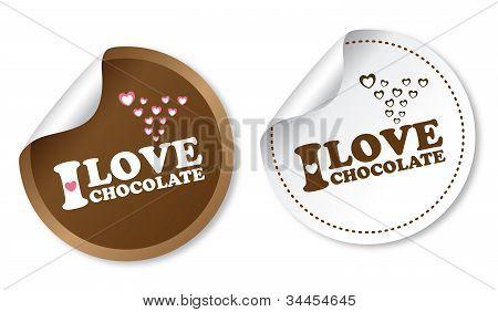 I love chocolate stickers
