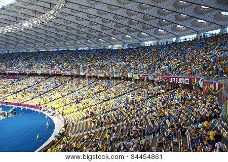 Tribunes Of Olympic Stadium (nsc Olimpiysky) During Uefa Euro 2012 Game Between Ukraine And Sweden