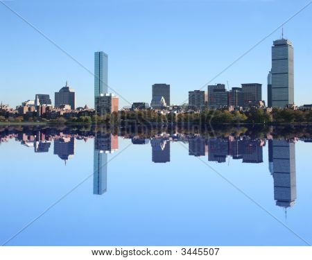 Boston Skyline Reflected