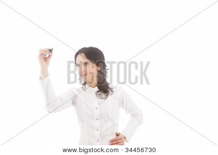 Drawing Woman In White