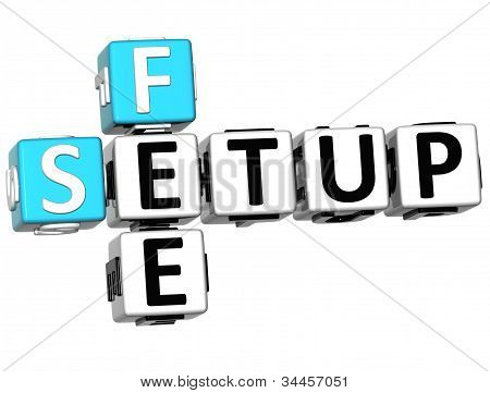 3D Setup Fee Crossword