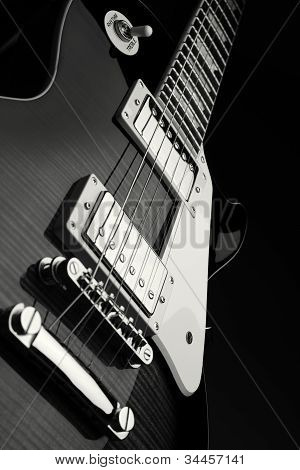 Close Up Shot Of Electric Guitar