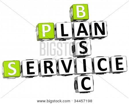 3D Plan Basic Service Crossword