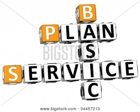 3D Plan Basic Service Crossword