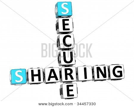 3D Sharing Secure Crossword
