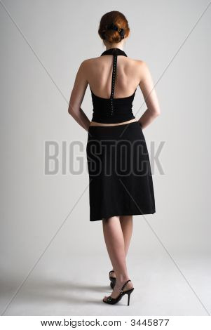 Girl In Black Stand Back