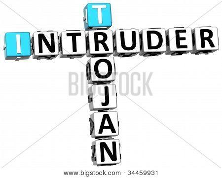 3D Trojan Intruder Crossword