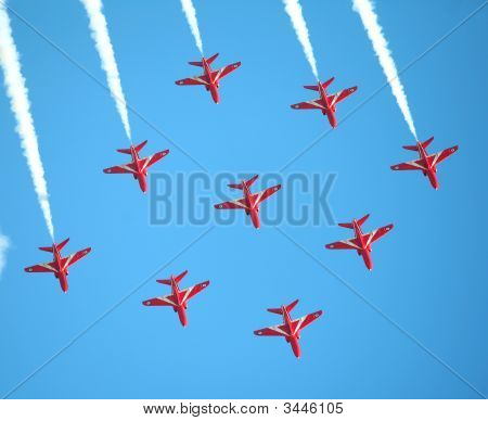 Red Arrows At Lowestoft, England