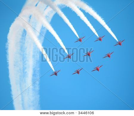 Red Arrows Diamond Nine