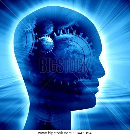 Silueta de la cabeza humana