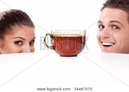 Man And Woman With Cup Of Tea