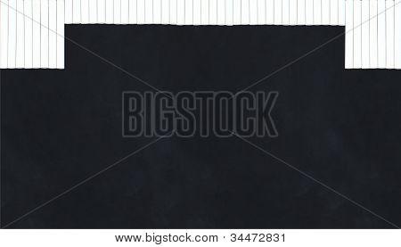 Chalk Curtain On Blackboard