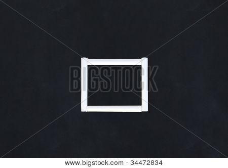 Chalk Frame On Black Background