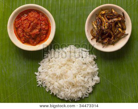 Nasi Lemak Coconut Flavored Rice