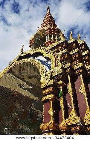 Beautiful Thai Temple In Lamphun Thailand