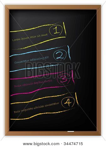 Advertising Labels Drawn On Blackboard