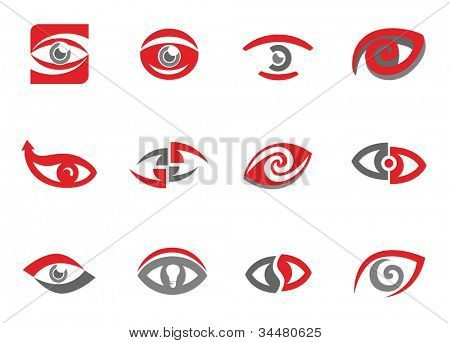 Set of eye sign templates and elements.