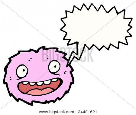 cartoon furball monster