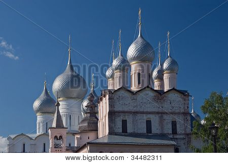 Cupolas of Resurrection church and Assumption cathedral