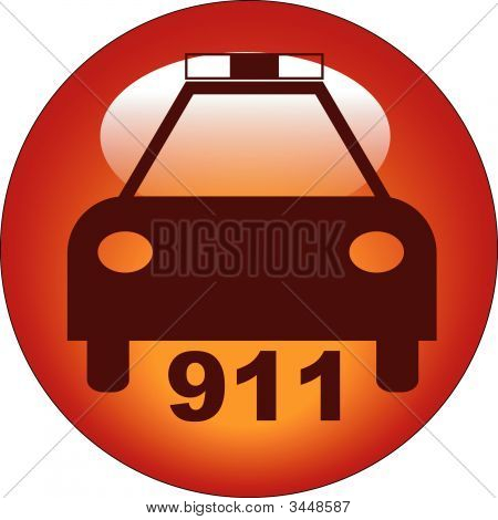 Button Car Police 911.