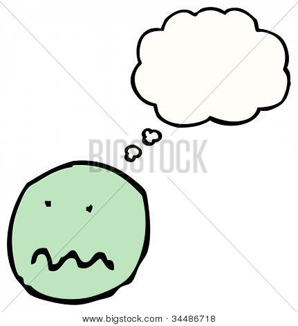 Cartoon unsicher Emoticon Gesicht