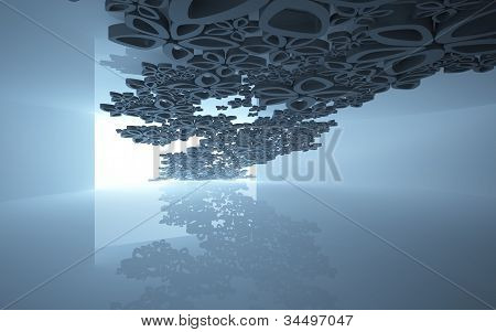 Abstract background with the interior colors flew through the window.