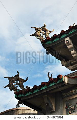Details of a Chinese Pagoda Temple