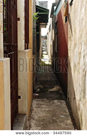 Narrow Urban Alley