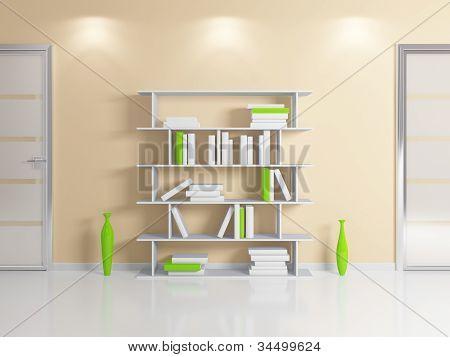 Modern bookshelf.