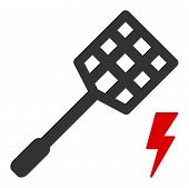 Electric Fly Killer Vector Icon. Flat Electric Fly Killer Symbol Is Isolated On A White Background. poster